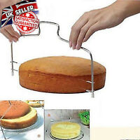 Adjustable Stainless Steel 2 Wire Cake Slicer Bread Leveler Dough Cutter Tool CH