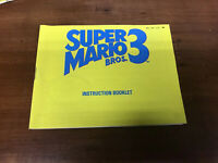 Super Mario Bros 3 Nintendo NES Video Game Manual Only