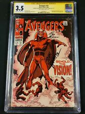 Avengers #57 CGC SS 3.5 Silver Age VisionSigned by Romita & Thomas! Wandavision