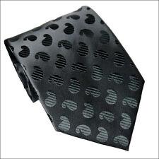 100% Silk Black  Pattern Necktie Style# BPT-1008  ***US Seller***