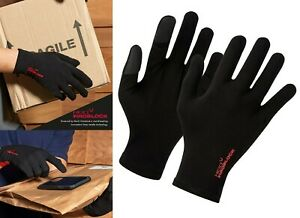 Premier Touch Gloves Works with Touch Screens HeiQ Viroblock 100% Cotton Black