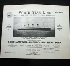 WHITE STAR LINE OLYMPIC 1913 Brochure Reprint
