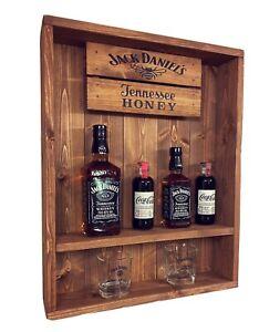 Jack Daniels Honey Wall Shelf ,pub Bar Man Cave shed Gift Whisky bottle display