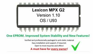 Lexicon MPX G2 - Version 1.10 Firmware Update Upgrade Eprom [Latest OS