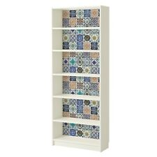 Furniture Wrap for BILLY Bookcase DIY Makeover Self-adhesive Mosaic Tile Sticker