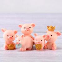 Fortune Pig Miniature Figurine Fairy Garden Dollhouse Decor Micro Landscape HC
