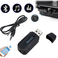 USB Bluetooth Receiver Music Audio Dongle+ 3.5mm AUX to USB Adapter Car& Speaker