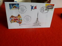 AUSTRALIA POST AT PARIS 2002 STAMP EX FRENCH & AUST POSTMARKS OVERPRINTED COVER