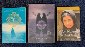 Lot of 3 pb books—Memoirs by Middle East girls. Persian Girls, I Am Nujood
