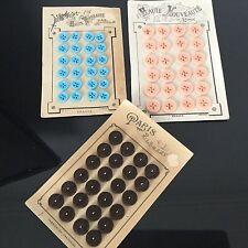 Lot 72 BOUTONS Anciens Verre Bakélite Paris Haute Nouveauté  French Buttons