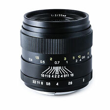 Oshiro 35mm f/2 Wide Angle Lens for Canon EOS 70D 60D 7D 6D T6i T6s T5i T5 T3i