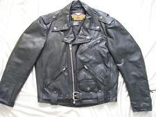 Harley Davidson Motorcycle Leather Jacket Shovelhead Biker Made in USA Mens M