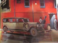 "Classic Car poster- ""Night Moves""  Art Deco era poster.  -Limited Edition"