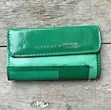 SEPHORA Green BRUSH Case Bag Pouch Pantone Universe Magnetic Brushes Holder