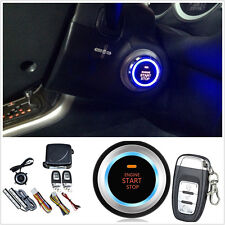 Car Alarm System Keyless Entry Engine Start Push Button Remote Starter 8 parts