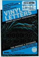 "Permanent Adhesive Vinyl Letters & Numbers 1"" 183/Pkg-Black -D3214-Black"