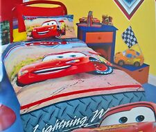 ~ Disney Cars - McQUEEN DOUBLE BED QUILT DOONA DUVET COVER BEDROOM Full CH