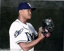 Enny Romero Tampa Bay Rays Top Prospect Signed 8x10 Photo with LOM COA er3