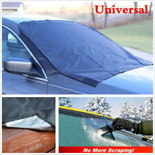 1X Car SUV Magnet Windshield Cover Sun Shield Snow Frost Freeze Protector Black