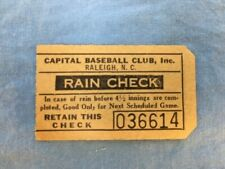 New ListingBaseball ticket stubs vintage two North Carolina Tobacco League 1940s