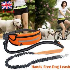 More details for hand free dog lead leash waist belt for jogging walking running adjustable