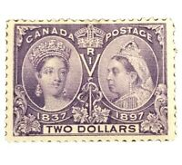 Canada Stamps Collection Scott #62 Jubilee Mint H OG CV$1400 Low Price