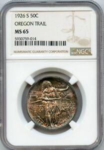 1926-S 50cOregon Trail Commemrative Half Dollar NGC MS 65