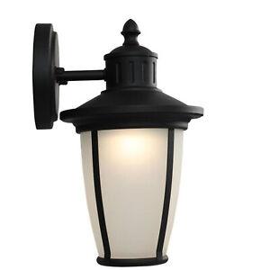 Portfolio LED Wall Lantern Matte Black