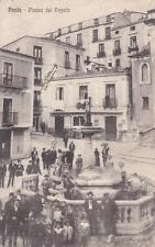 C3603) PAOLA (COSENZA), PIAZZA DEL POPOLO. VIAGGIATA NEL 1919.