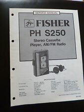 ORIGINALI service manual FISHER PH s250