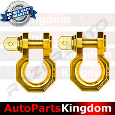 "1 Pair 3/4"" Yellow 3.0 Ton Aluminum D-Ring Bow Shackle Heavy Duty Offroad ATV RV"