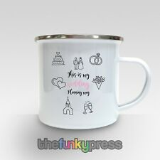 This Is My Wedding Planning Mug Enamel Cup Tea Coffee Bride To Be Engaged Gift