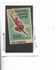 1937-Scottish Motor Show-Glasgow-Poster Stamp