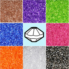 BeadTin Transparent 6mm Faceted Rondelle Plastic Craft Beads (1200pcs)
