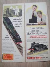 HORNBY DUBLO ELECTRIC TRAINS ~ 1950s OLD VINTAGE RETRO ORIGINAL MAGAZINE ADVERTS