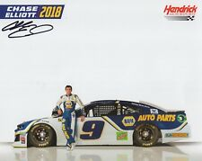 CHASE ELLIOTT HAND SIGNED 8x10 COLOR PHOTO+COA       AWESOME YOUNG NASCAR DRIVER