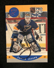 CURTIS JOSEPH 1990 SCORE AUTOGRAPHED SIGNED AUTO HOCKEY NHL CARD 638 BLUES