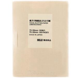 Muji Japan Traditional Paper Fiber Oil Blotting Paper (100 sheets) 75x99mm