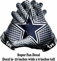 Dallas Cowboys 4LIFE 10'  Auto Car Window/Wall Vinyl Glossy Glove Decal Stickers