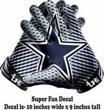 Dallas Cowboys Auto Car Truck Window Or Wall Vinyl Glossy Glove Decal Stickers