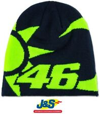 VR46 Valentino Rossi Beanie Hat Winter SoleELuna Sun and Moon Official Blue J&S