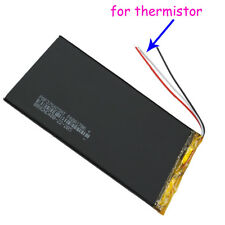 3.7V 4000 mAh Polymer Li Battery 3 wires for thermistor For Tablet PC 3766125 A