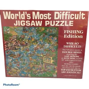 worlds most difficult jigsaw puzzle fishing fishermen edition new sealed