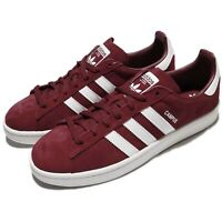 adidas Originals Campus Burgundy White Men Women Unisex Classic Shoes BZ0087