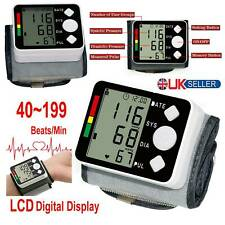 Blood Pressure LCD Digital Wrist Monitor Heart Beat Rate Pulse Measure Machine