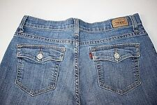LEVI'S 512 Women's Perfectly Slimming Bootcut Stretch Denim Blue Jeans 12 Short