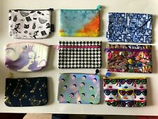 Lot of 9 Ipsy Makeup Bags, All Different (Empty).