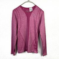 Nike Dri Fit M Activewear Running Shirt Pink Pin Wheel Long Sleeve Thumb Holes
