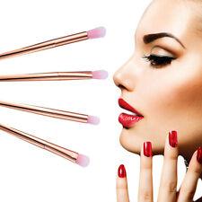 4pcs Professional Make Up Brush Set Brush Metal Powder EyeShadow Cheek Rose Gold