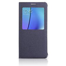 Samsung Galaxy Note 5 S-View Flip Cover Case - Black Sapphire OEM Original